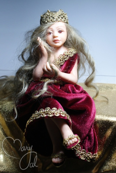 OOAK Polymer clay princess doll
